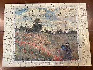 Vintage Belvedere Vera Wooden Jigsaw Puzzle Monet 100 Pcs Women In Poppy Field