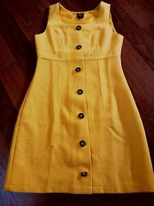 Pop Boutique Mustard Yellow Pinafore Dress Mod Scooter 60s Vintage Style BNWT