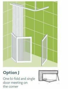 Impey Option J 750mm High Shower Screens