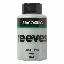 Reeves Acrylic Paint Silver 400 Ml