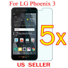 5x Clear LCD Screen Protector Guard Cover Shield Film For LG Phoenix 3 / M150