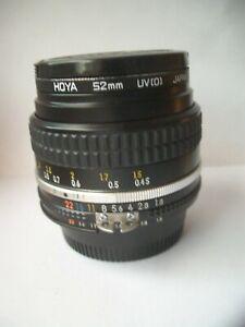 Nikon Nikkor 50mm f/1.8 Ais Manual Focus Prime Lens Classic
