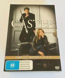 CASTLE Complete Seasons 1 2 3 4 DVD Tv Series Box Set Region 4 FREE POST VGC Z