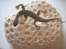 Vintage Sterling Silver Marcasite Lizard Brooch   162208