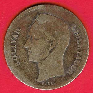 Silver Coin 1936 Venezuela 1 Bolivar Y#22 Dollar