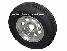 """ST185/80R13 LRD 8 PR KK Radial Trailer Tire on 13"""" 5 Lug Galvanized Spoke Wheel"""