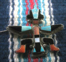 Zuni Gary Vacit (d.) Bolo Hopi Bird Mosaic Inlay w Tips Early 50s