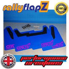 RallyflapZ Subaru Impreza Blobeye (03-05) Bavettes WR bleu sti rose 4 mm PVC