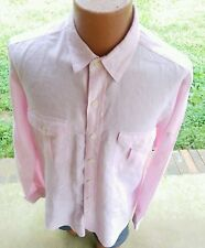POLO by RALPH LAUREN Men's Pink Long Sleeve Linen Button Up Shirt Size L