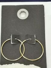 Urban Outfitters, earings, golden hoops, 3 cm diameter,  RRP 9.99