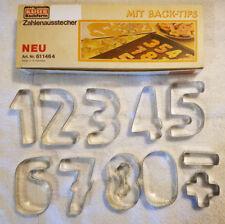 Kaiser Backform Zahlen Ausstecher - German Aluminum Number Cookie Cutters