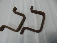 "Vintage! 8"" Gate Post Heavy Cast Iron Hand Made Brackets"