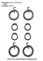 4 Spings 2 turn x 1.8mm and 4 Circlips 13.7mm id Kit for Door Handle Repairs