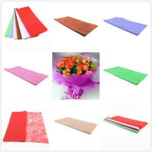 3-10PCS Flower Wrapping Cotton Paper Florist Art Wedding Bouquet Decor 50X50cm