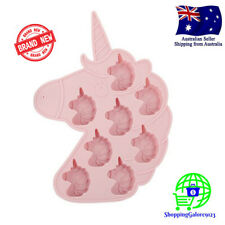 UNICORN Silicone Ice Cube Tray Chocolate Jelly Mould Mold Cake Decoration Pink