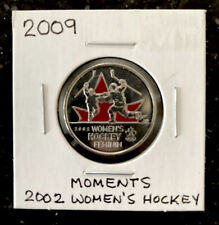 2009 RCM 25 cent Coin 2002 Women's Hockey Moments Uncirculated From Set