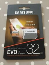Samsung 32 GB Evo MicroSDHC UHS-I Grade 1 Class 10 Memory Card with SD Adapter -