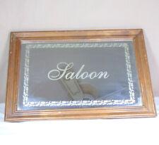 "Bar Mirror ""Saloon"" Text Man Cave Decor"