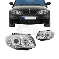 Scheinwerfer Set Satz Angel Eyes für BMW E81 E82 E87 E88 Bj 2004-2011 klar chrom