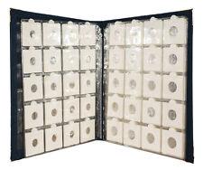 "Premier World Class Large 200 Coin Album with 100pcs 2x2"" Coin Holders Flip Case"