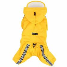 Puppia Race Track Hooded Jumpsuit, Yellow, Small