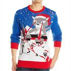 NEW Target Hybrid Holiday Sweater Men's Laser Cat XL Ugly Christmas Blue NWT