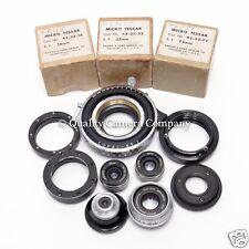 Bausch & Lomb Micro Tessar Master Set - COPAL#1+ADAPTERS+T-MOUNT- 16+32+48+72MM!