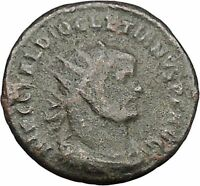 DIOCLETIAN receiving Victory on globe from  JUPITER  Ancient Roman Coin  i46440
