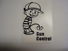 VINYL STICKER GUN CONTROL PEE GUY AK AR15 PISTOL RIFLE SHOOTING