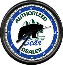 Bear Archery Dealer Bow Hunting Sign Wall Clock