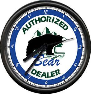 Bear Archery Dealer Recurve Bows Bow Hunting Archer Arrows Sign Wall Clock