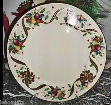 "LENOX HOLIDAY TARTAN BUFFET SERVICE PLATTER NEW ORIGINAL DESIGN USA 11.75"" diam"