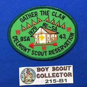 Boy Scout OA 1979 NE-5A Delmont Scout Reservation Order Of The Arrow Patch