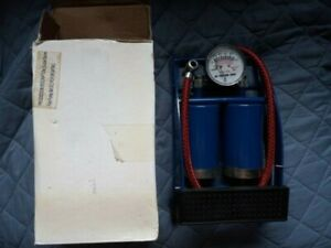 Double Barrel Bicycle Air Foot Pump 100 PSI. Open Box.