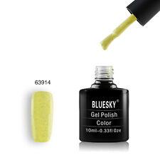 63914 Bluesky Salon Nail Polish UV GEL Glaze Mustard Yellow Pepper