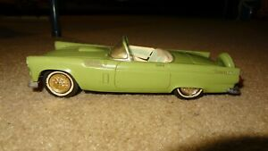 1955/1956 AMT Ford T-bird promo, green. 55/56 Thunderbird promotional model car
