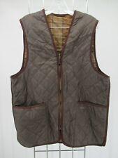 I8777 VTG Barbour Men's Plaid Lining Zip in Liner Waistcoat Size 40
