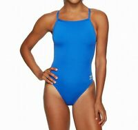 Speedo Women Swimwear Blue Size 30 Endurance+ Flyback One-Piece Swimsuit $69 281