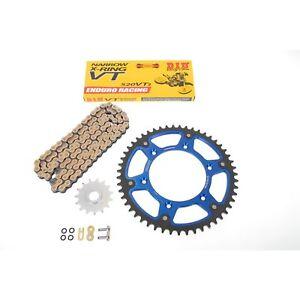 DID VT2 Kit de Cadena Oro Sigilo Azul Husaberg Fe 250 4t, Fe 350 , Fe 390 450