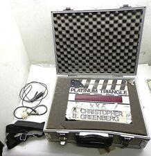 Vintage Platinum Triangle Electronic Movie Film Clap Board Clapperboard Clapper