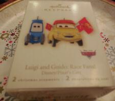 2008 Hallmark Ornament  LUIGI & GUIDO: RACE FANS Disney Cars  2 Ornaments