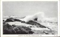 Peaks Island ME Majesty of the Sea Old Postcard