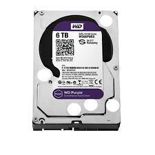 """Western Digital Hard Drive WD60PURZ WD Purple AV 3.5"""" 6TB 64MB SATA 6Gb/s Bulk"""