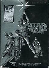 STAR WARS TRILOGY: Episodes IV+V+VI +BONUS MATERIAL 4-DVD BOX NEW & SEALED