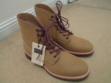 Nouveau G.H. BASS Caille Hunter Duxbury Plain Toe Tan Bottes en Cuir UK 10 EU 44 US 11