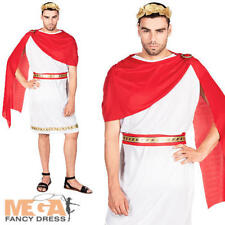 Roman Caesar Mens Fancy Dress Grecian Leader Historical Book Week Adults Costume