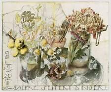 Horst Janssen Blumen Seifert-Binder Poster Kunstdruck Bild 59x71cm