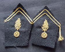 A0365 - Pattes de col Officier Gendarmerie Mobile - French Police collar stripes