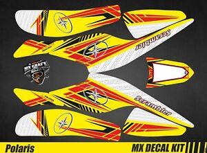 Kit Déco Quad / Atv Decal Kit Polaris Scrambler Trailblazer  - Yellow Arrow