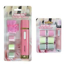 ELETTRICA Nail Buffer/lucidatore MANICURE KIT rosa con 2 set di ricariche di ricambio